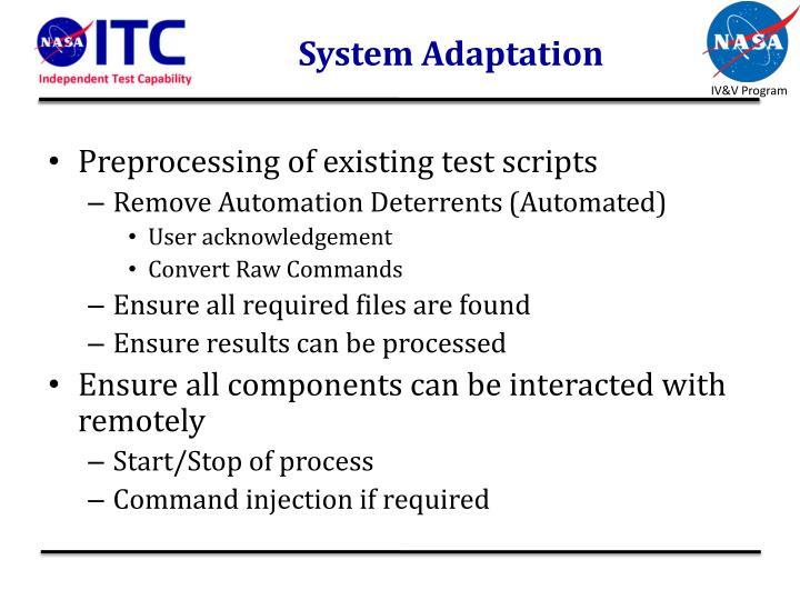 System Adaptation