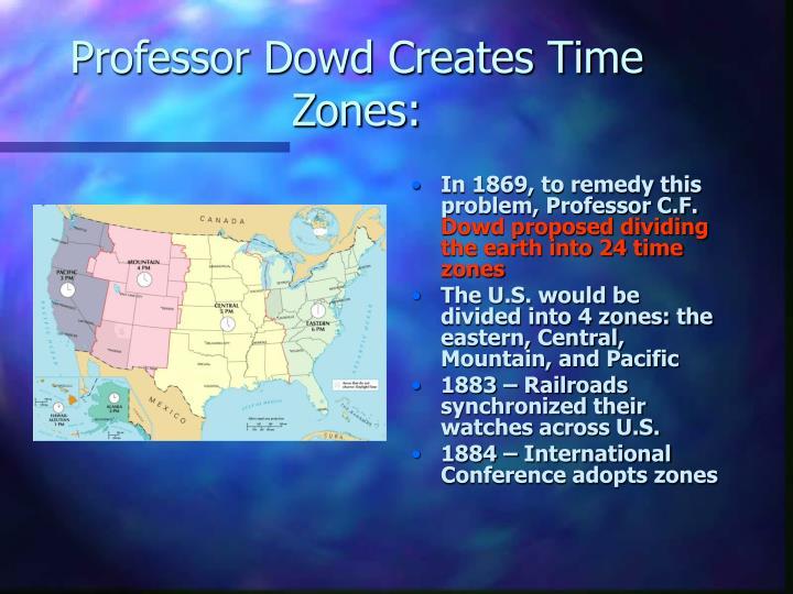 Professor Dowd Creates Time Zones: