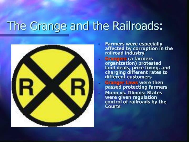 The Grange and the Railroads: