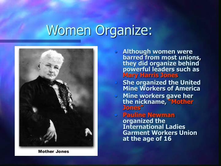 Women Organize:
