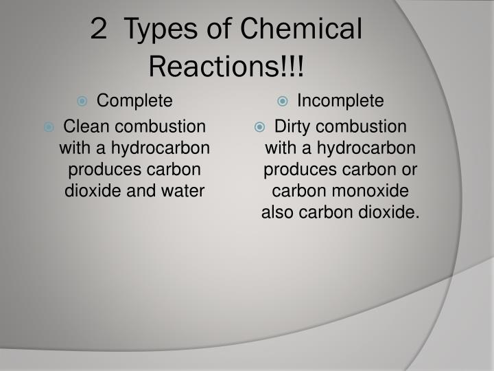 2  Types of Chemical Reactions!!!