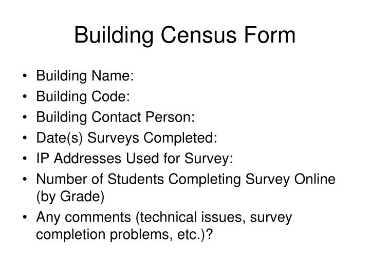 Building Census Form