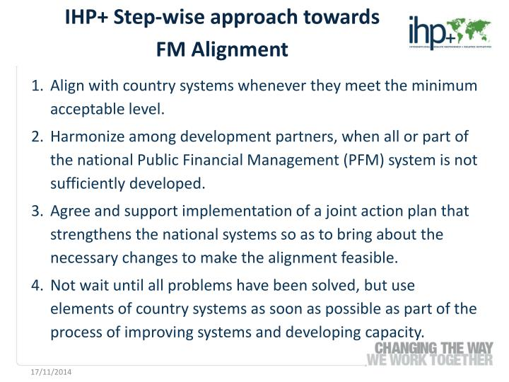 IHP+ Step-wise approach