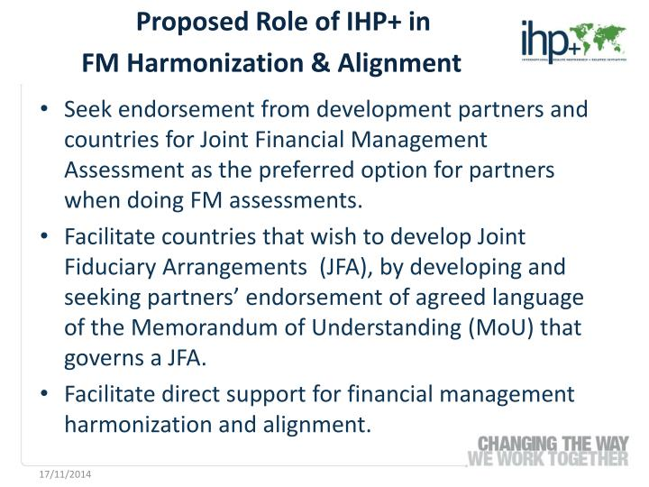 Proposed Role of IHP+ in