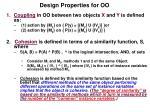 design properties for oo