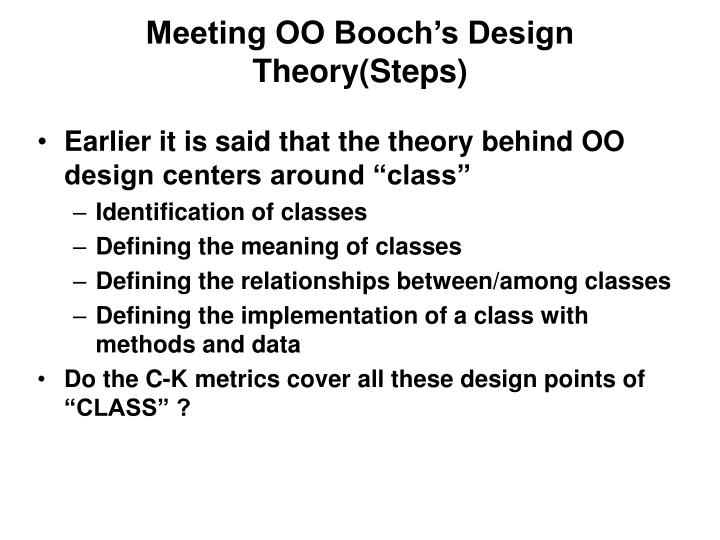 Meeting OO Booch's Design Theory(Steps)