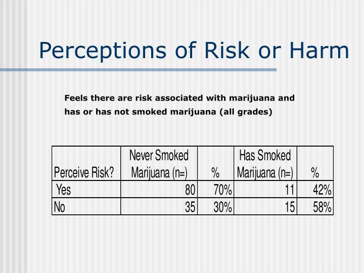 Perceptions of Risk or Harm