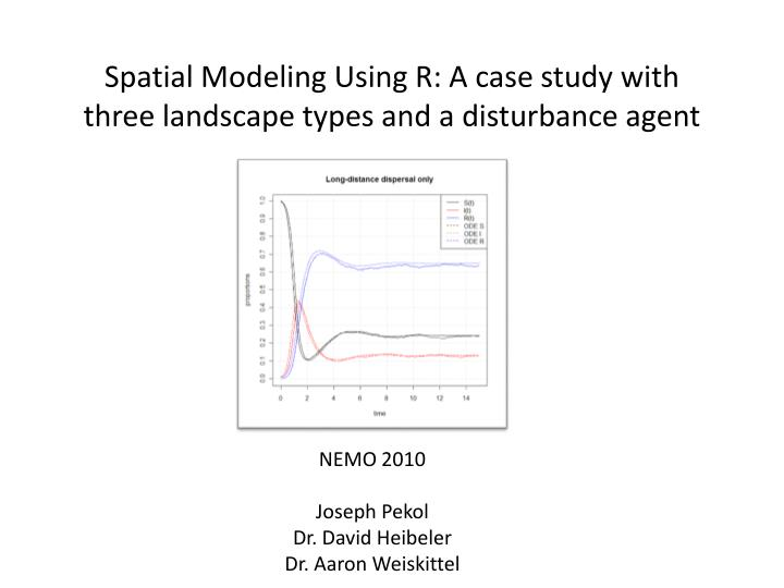 Spatial modeling using r a case study with three landscape types and a disturbance agent