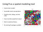 using r as a spatial modeling tool