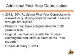 additional first year depreciation
