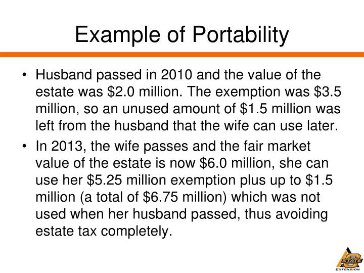 Example of Portability