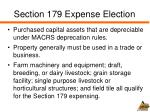 section 179 expense election