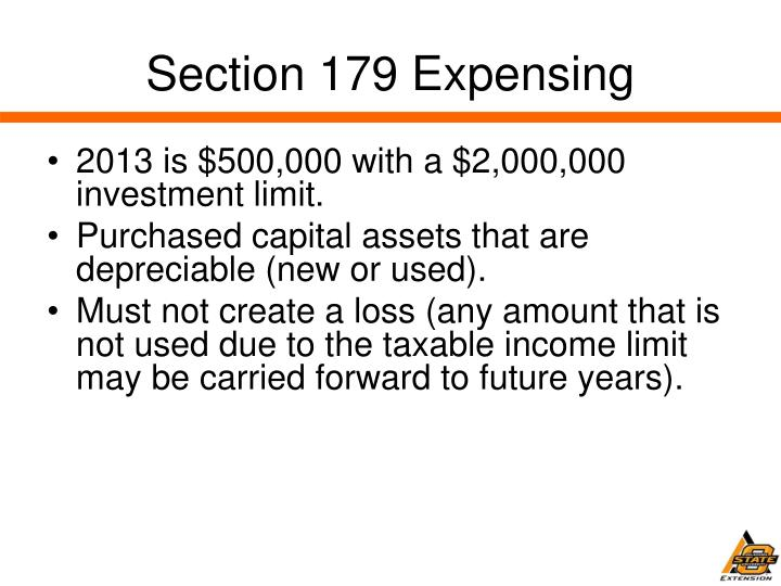Section 179 Expensing