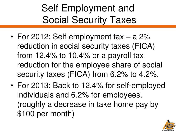 Self Employment and