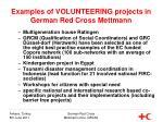 examples of volunteering projects in german red cross mettmann