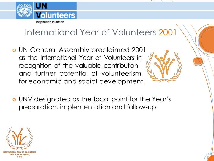 International Year of Volunteers