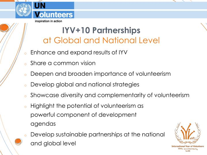 IYV+10 Partnerships