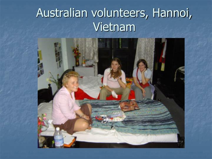 Australian volunteers, Hannoi, Vietnam