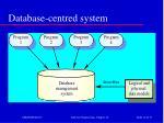 database centred system