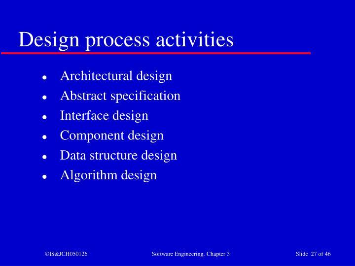 Design process activities