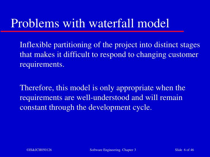 Problems with waterfall model