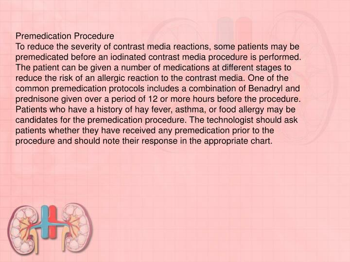 Premedication Procedure