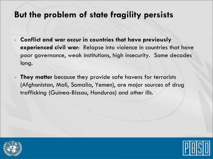 Conflict and war occur in countries that have previously experienced civil war