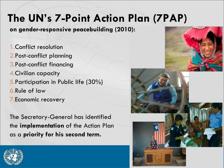 The UN's 7-Point Action Plan (7PAP)