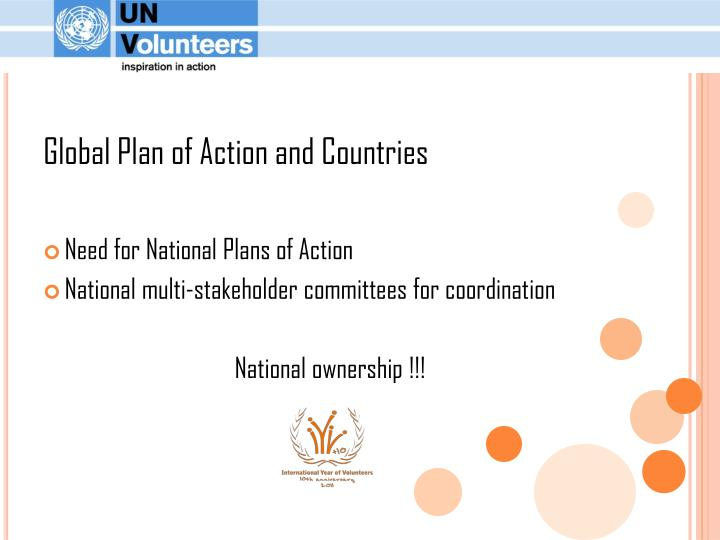 Global Plan of Action and Countries