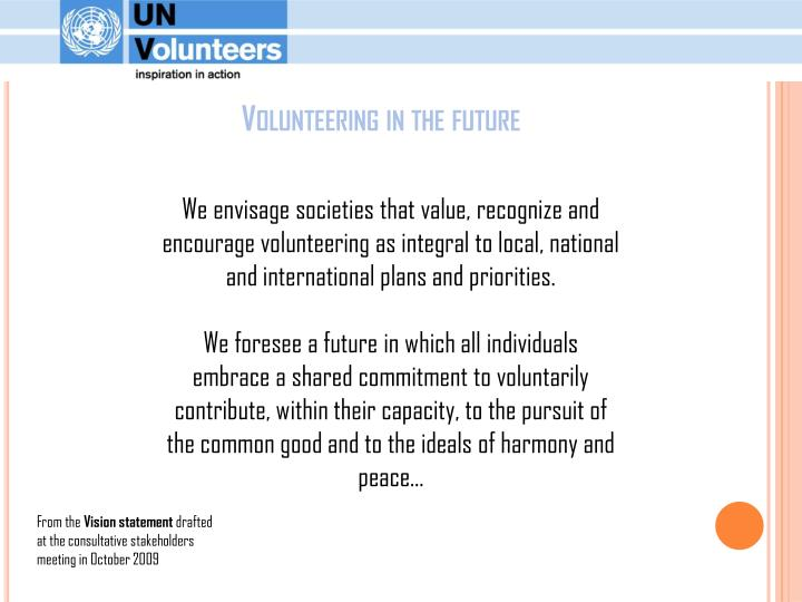 Volunteering in the future