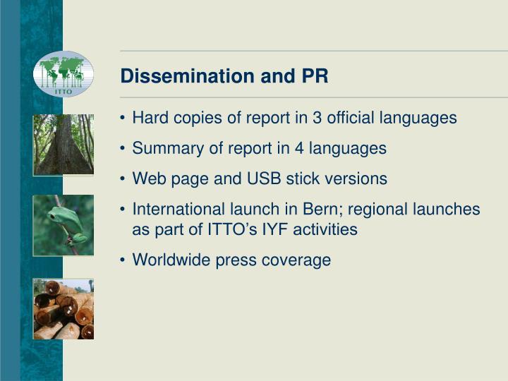 Dissemination and PR