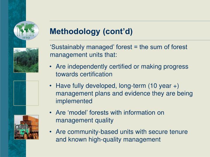 Methodology (cont'd)