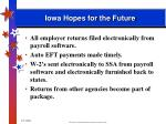 iowa hopes for the future