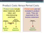 product costs versus period costs