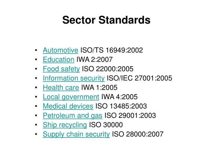 Sector Standards