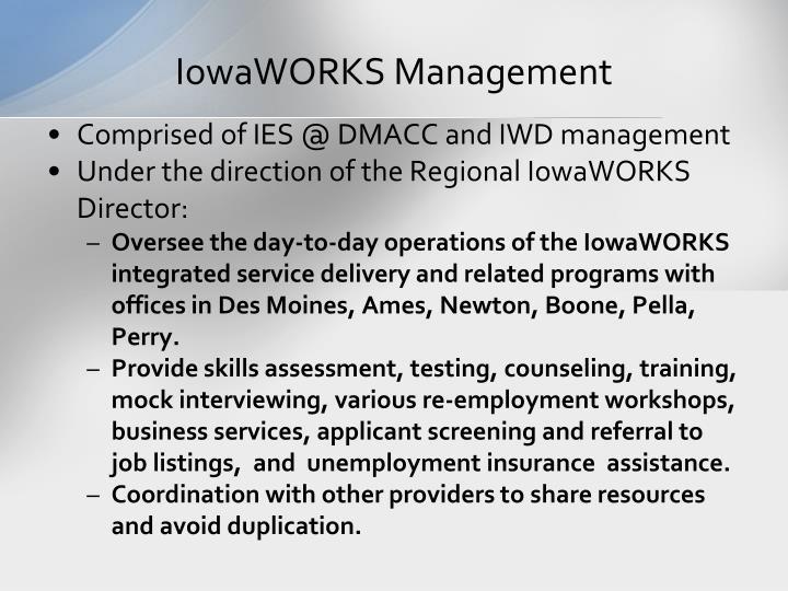 IowaWORKS Management