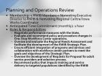 planning and operations review