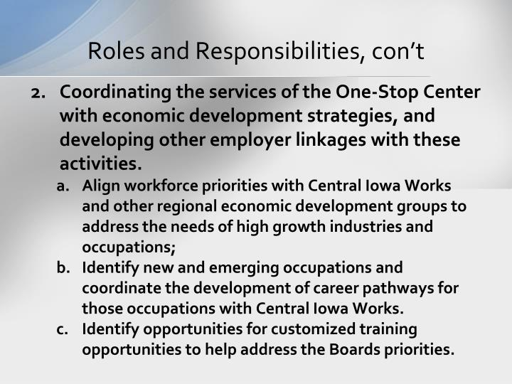 Roles and Responsibilities,