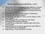 roles and responsibilities con t1