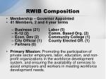 rwib composition