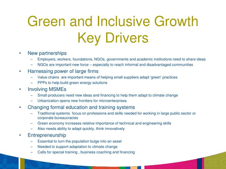 Green and Inclusive Growth