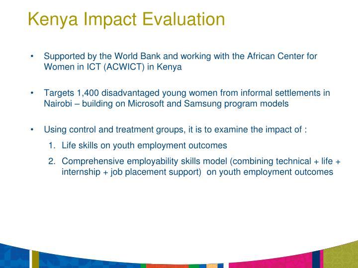 Kenya Impact Evaluation
