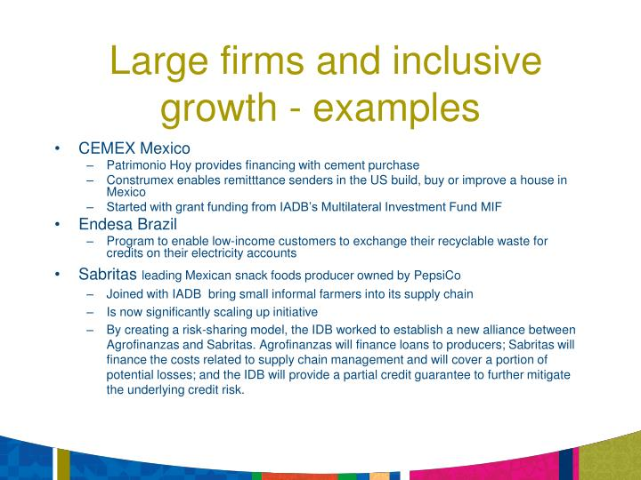 Large firms and inclusive growth - examples