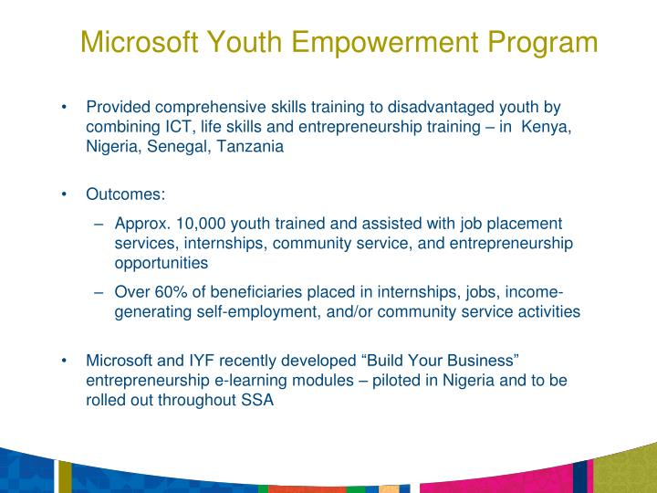 Microsoft Youth Empowerment Program