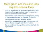 more green and inclusive jobs requires special tools
