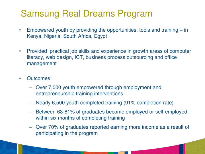 Samsung Real Dreams Program
