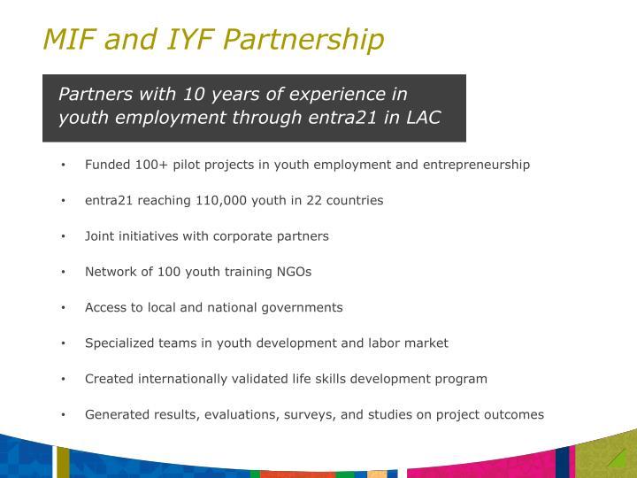 MIF and IYF Partnership