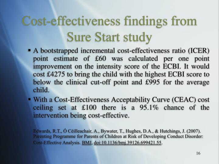 Cost-effectiveness findings from Sure Start study