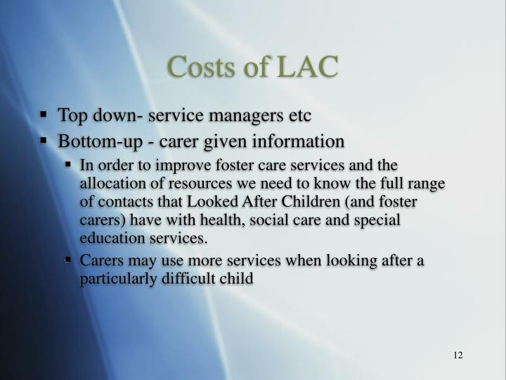 Costs of LAC