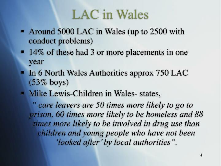LAC in Wales